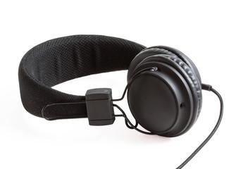 Casque audio sur fond blanc