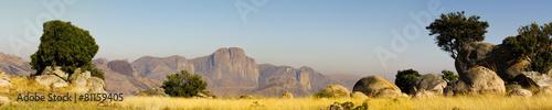 Madagascar landscape - panoramic view