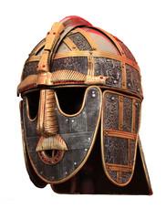 Metal Medieval helmet armour isolated