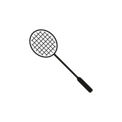 The badminton icon. Game symbol. Flat