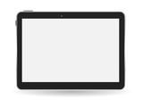 Black Tablet PC Vector Illustration