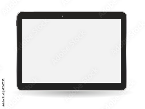 Black Tablet PC Vector Illustration - 81160235