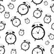 Clock Alarm Icon Vector Illustration Seamless Pattern Background
