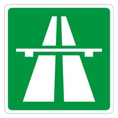 Autobahnzeichen grün