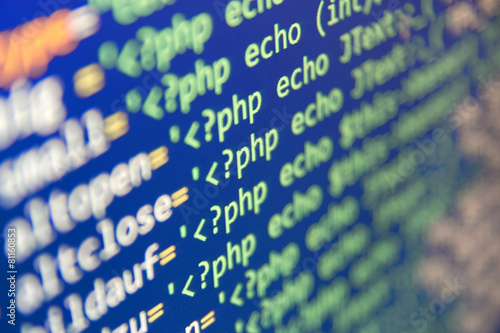 Leinwanddruck Bild Coding