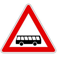 Kraftomnibusse – Gefahrzeichen