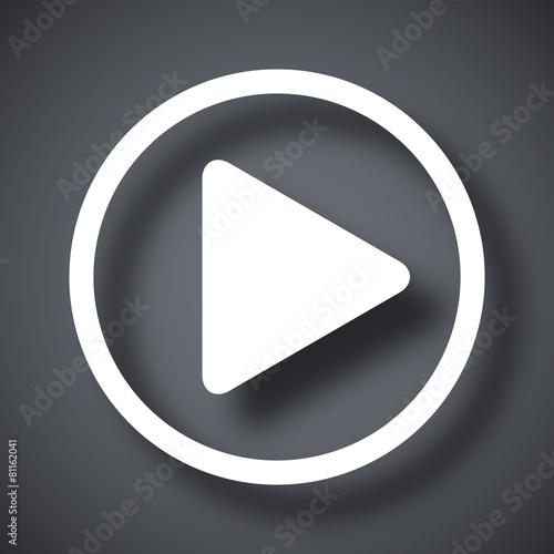 Vector play icon - 81162041