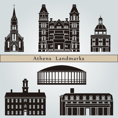 Athens landmarks and monuments