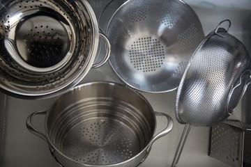 Steel strainer sieve metal bowls