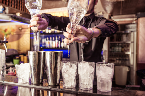 bartender at work - 81163654
