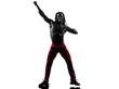 african man exercising fitness zumba dancing silhouette
