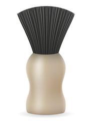shaving brush vector illustration