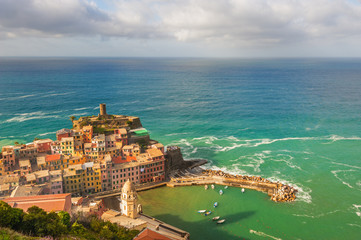 The seaside town with a bird's eye view. Vernazza, Cinque Terre