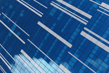 Glass facade of an urban building