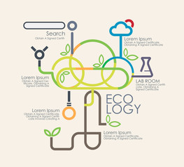 Business eco logy  and infographics.Vector illustrationayout, ba