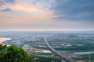 high angle view of of Taipei