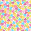 Colorful blue pink yellow floral pattern