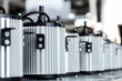 Leinwanddruck Bild - newly manufactured spare parts in factory