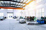 factory workshop interior and machines - 81167621