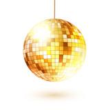 Fototapety Golden disco ball.