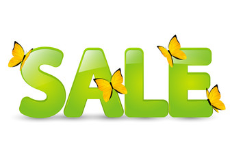 Summer sale message with butterflies
