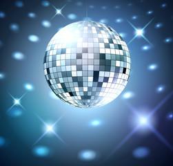 Silver disco bal.