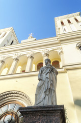 Statue of St. Peter near  Lutheran Church  in St. Petersburg.