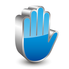 Stop hand 3D icon