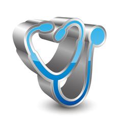 Stetoscope 3D icon