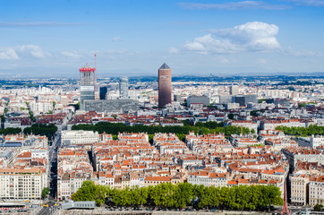 Lyon, paysage urbain, La Part-Dieu