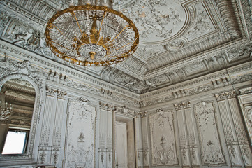 The mansion Brusnicyna in St. Petersburg.Interior.White hall.