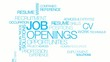 Job openings recruitment positions tag cloud animation