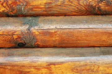 Стена бревенчатого дома
