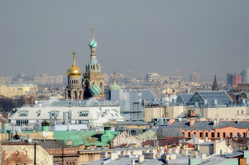 Panorama of St. Petersburg from bird's-eye view