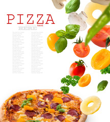 exotic pizza with pineapple and peach