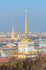 St. Petersburg from bird's eye view