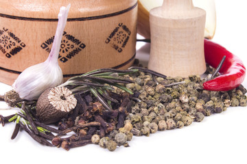 scented fragrant spices and herbs