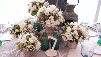 table decoration for a party or wedding