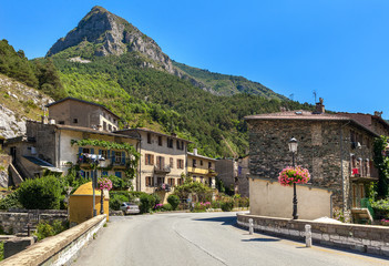 Small town of Tende, France.