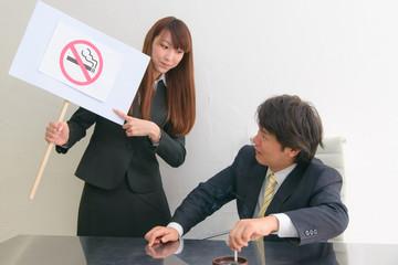 ビジネスマン 禁煙活動
