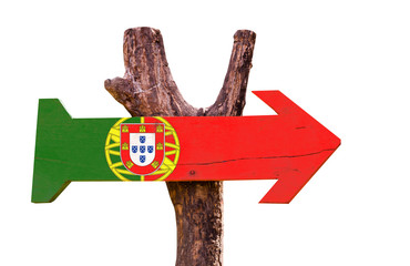Portugal Flag sign isolated on white background