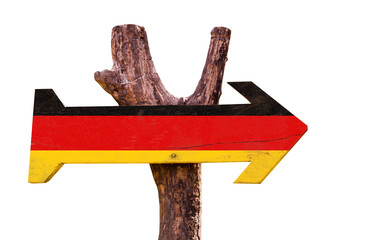 Germany Flag sign isolated on white background