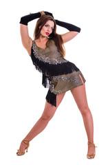 Latino dancer woman posing