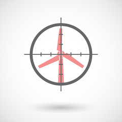 Crosshair icon with a wind generator