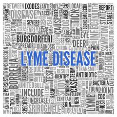 LYME DISEASE Concept Word Tag Cloud Design