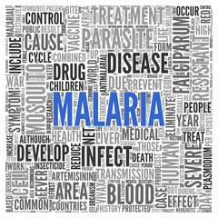 MALARIA Concept Word Tag Cloud Design