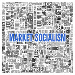 MARKET SOCIALISM Concept Word Tag Cloud Design
