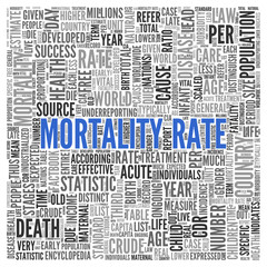 MORTALITY RATE Concept Word Tag Cloud Design