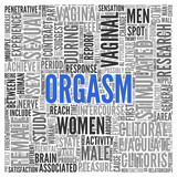 ORGASM Concept Word Tag Cloud Design poster
