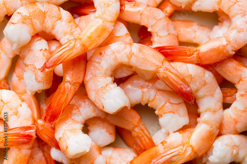 Deurstickers Schaaldieren tasty prawns